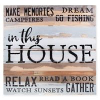 "Sweet Bird & Co. ""in this House"" Reclaimed Wood Wall Art"