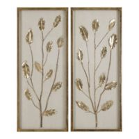 Uttermost Branching Out Gold Leaf Wall Art (Set of 2)