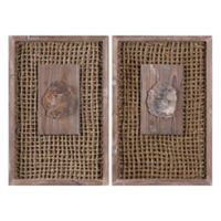 Uttermost Endicott Petrified Wood Panels 17.5-Inch x 26.5-Inch Wall Décor (Set of 2)