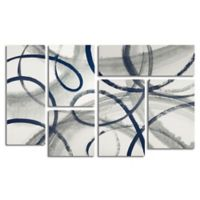 Trademark Fine Art Calligraphia Navy 3.9-Foot x 2.3-Foot Multi Panel Canvas Wall Art