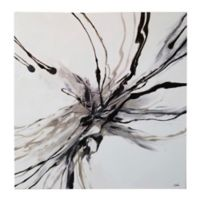 Ren-Wil Stamen 40-Inch Square Canvas Wall Art in Black/White