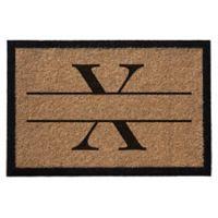 """Infinity Monogram Letter """"X"""" 3-Foot x 6-Foot Door Mat in Natural"""