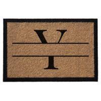 """Infinity Monogram Letter """"Y"""" 3-Foot x 6-Foot Door Mat in Natural"""