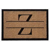 """Infinity Monogram Letter """"Z"""" 2-Foot x 3-Foot Door Mat in Natural"""