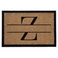 "Infinity Monogram Letter ""Z"" 3-Foot x 6-Foot Door Mat in Natural"