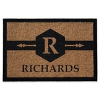 Infinity Hexagon Monogram 2-Foot x 3-Foot Letter Door Mat in Natural