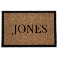 Infinity Single Border Name 2-Foot x 3-Foot Door Mat in Natural