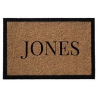 Infinity Door Mats Single Border Name 3-Foot x 6-Foot Door Mat in Natural