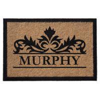Infinity Murphy Monogrammed 3' x 6' Door Mat in Natural