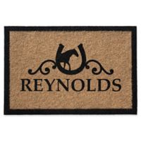 Infinity Horseshoe 2' x 3' Door Mat in Natural