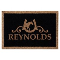 Infinity Horseshoe 2' x 3' Door Mat in Black