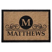 Infinity Monogram Letter 2-Foot x 3-Foot Door Mat in Natural