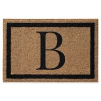 Infinity™ Single Monogram 2' x 3' Door Mat in Black