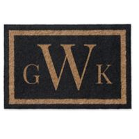Infinity Triple Monogram Letter 2' x 3' Door Mat in Black
