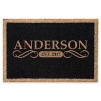 Infinity Anderson 2-Foot x 3-Foot Door Mat in Black