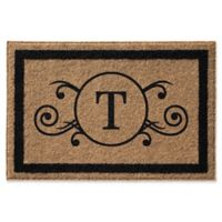 Infinity Scroll Monogrammed 2-Foot x 3-Foot Door Mat in Natural