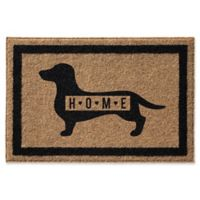 Infinity Dachsund 24-Inch x 36-Inch Door Mat in Natural
