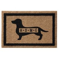 Infinity™ Dachsund Home 3' x 5' Door Mat in Natural