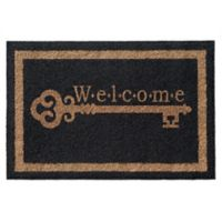 Infinity Mats™ Vintage Key 3' x 5' Door Mat in Black