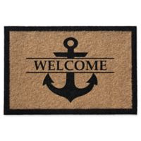 Anchor Welcome 24-Inch x 36-Inch Door Mat in Natural