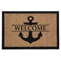 Anchor Welcome 36-Inch x 72-Inch Door Mat in Natural