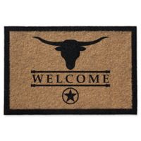 Infinity Longhorn 2-Foot x 3-Foot Door Mat in Natural