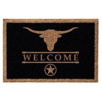 Infinity™ Wesley Welcome 3' x 5' Door Mat in Black