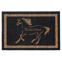 Infinity™ Stallion Welcome 3' x 6' Door Mat in Black