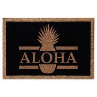 Infinity Aloha 2-Foot x 3-Foot Door Mat in Black