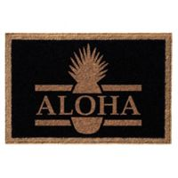 Infinity™ Aloha 3' x 5' Door Mat in Black