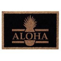 Infinity™ Aloha 3' x 6' Door Mat in Black