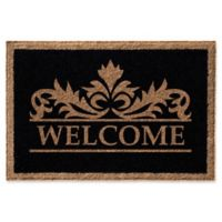 Infinity Murphy 2-Foot x 3-Foot Door Mat in Black