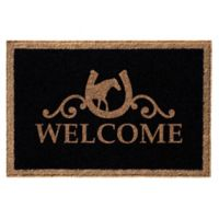 Infinity Door Mats Reynolds Welcome 3-Foot x 5-Foot Door Mat in Black