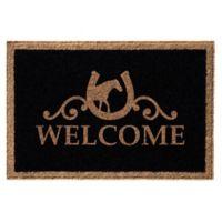 Infinity Door Mats Reynolds Welcome 3-Foot x 6-Foot Door Mat in Black