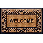 Panama Coir 2-Piece 18-Inch x 30-Inch Welcome Door Mat Set in Natural