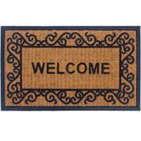 Panama Coir 2-Piece 18-Inch x 30-Inch Welcome Door Mat Set in Natural
