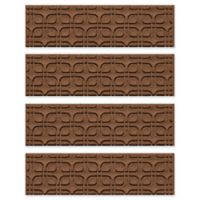 Weather Guard™ Petals Stair Treads in Dark Brown (Set of 4)