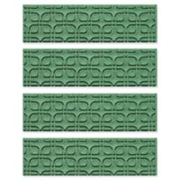 Weather Guard™ Petals Stair Treads in Light Green (Set of 4)