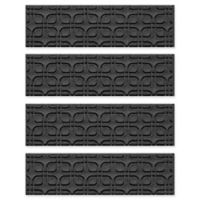 Weather Guard™ Petals Stair Treads in Charcoal (Set of 4)