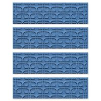 Weather Guard™ Petals Stair Treads in Medium Blue (Set of 4)