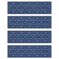 Weather Guard™ Petals Stair Treads in Navy (Set of 4)