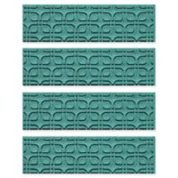 Weather Guard™ Petals Stair Treads in Aquamarine (Set of 4)