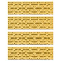 Weather Guard™ Petals Stair Treads in Yellow (Set of 4)