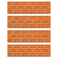Weather Guard™ Petals Stair Treads in Orange (Set of 4)