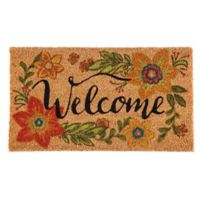 Floral 16-Inch x 28-Inch Welcome Door Mat Insert