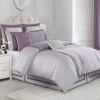 Judith Ripka Textured Jacquard Queen Comforter Set in Purple