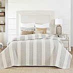 Coastal Living® Nautical Stripe Reversible King Quilt Set in Grey