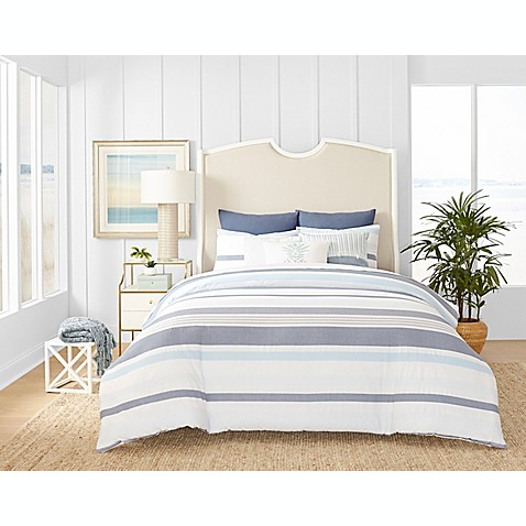 Coastal Living Ocean Stripe Reversible Comforter Set - Bed Bath & Beyond