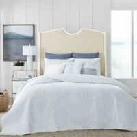 Coastal Living® Shadow Palm Twin Quilt Set in Blue