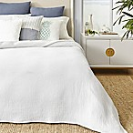 Coastal Living Matelasse King Blanket in White